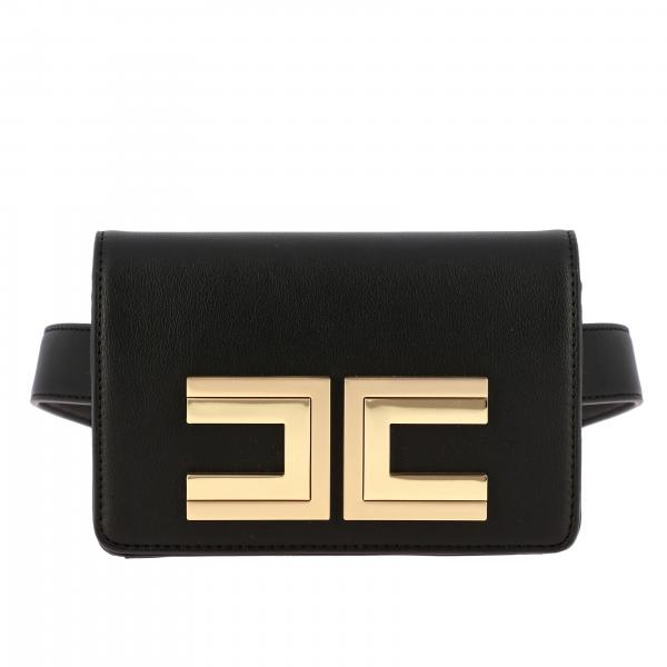 Elisabetta Franchi belt bag with maxi metal logo