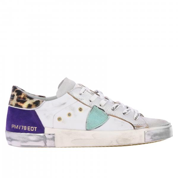 Sneakers Philippe Model in pelle usurata e camoscio