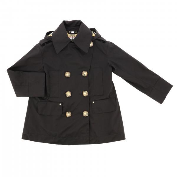 Manteau croisé Burberry avec capuche