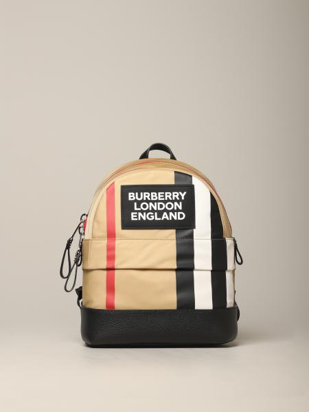 Burberry backpack with vintage check striped print