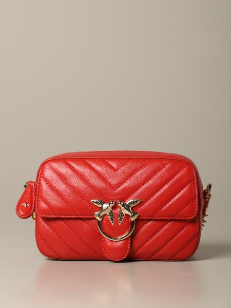 Love square Pinko bag in chevron leather