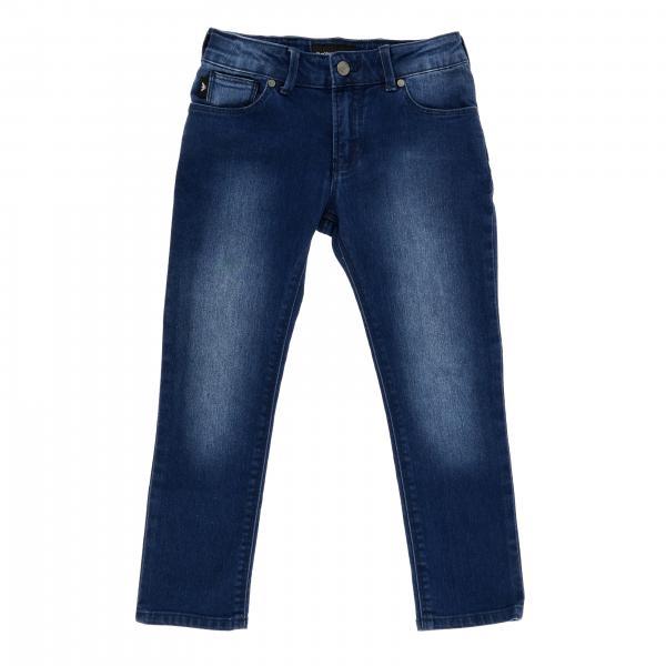 Jeans Emporio Armani en denim usé avec logo