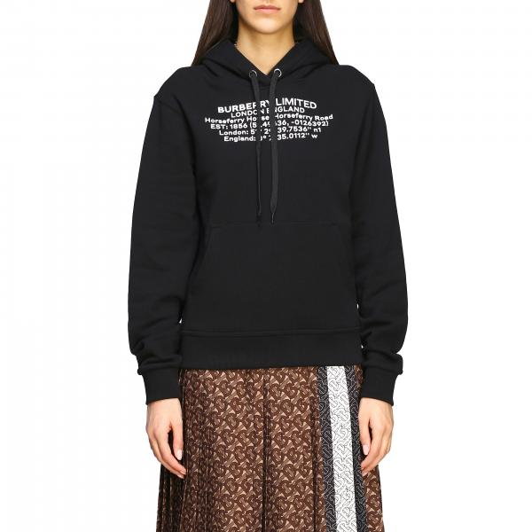 Burberry sweatshirt with coordinates and hood