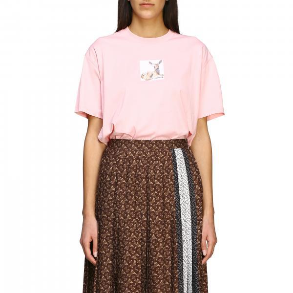 T-shirt Burberry con stampa Cerbiatto