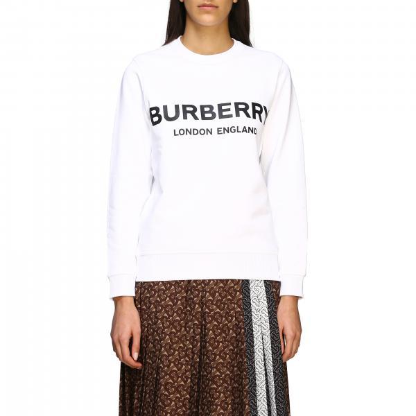 Felpa Burberry a girocollo con logo