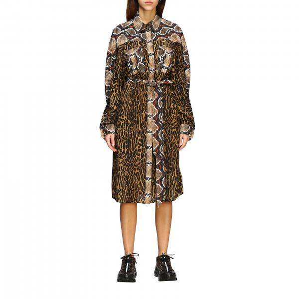 Burberry dress with spotted and python print