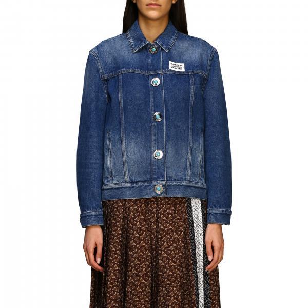 Giacca di jeans Burberry con logo e tasche posteriori