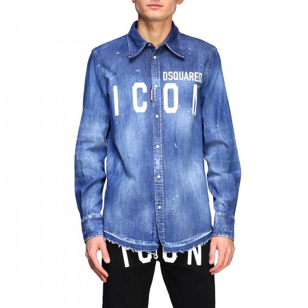 Chemise en jean Dsquared2 avec logo Icon