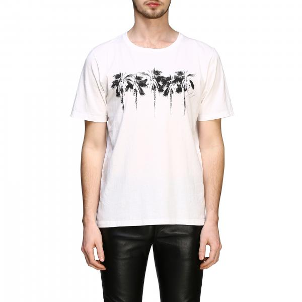 Saint Laurent T-Shirt mit Palmendruck