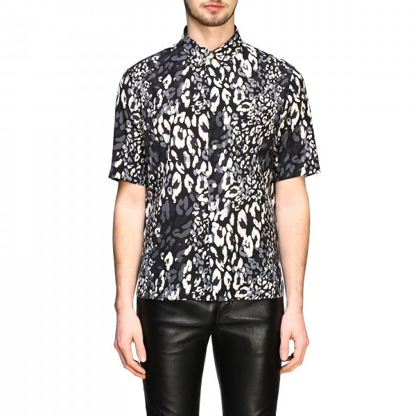 Saint Laurent short-sleeved shirt with spotted print