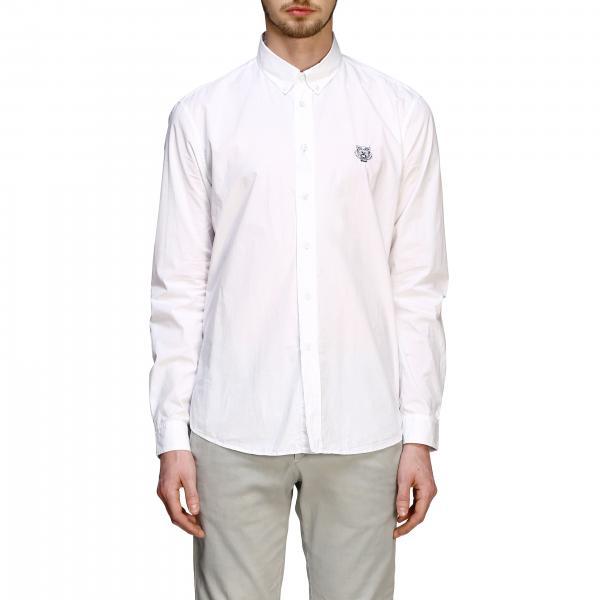 Kenzo poplin shirt with button down collar