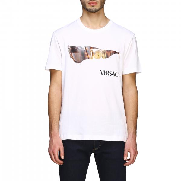 Versace short-sleeved T-shirt with glasses print