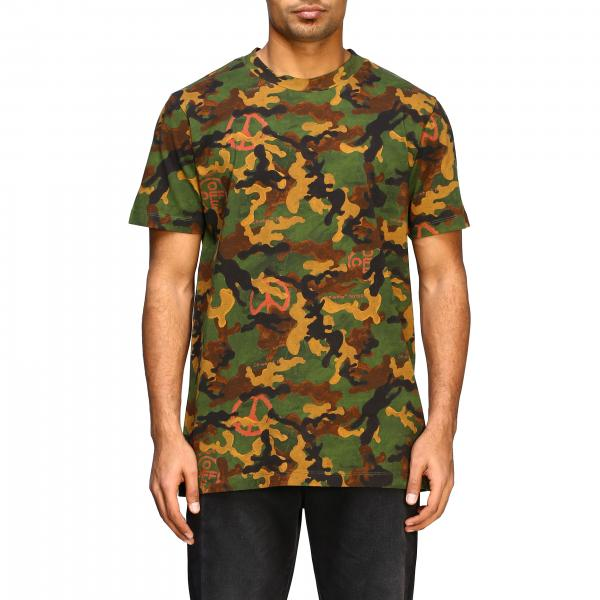 T-shirt Off White a fantasia camouflage