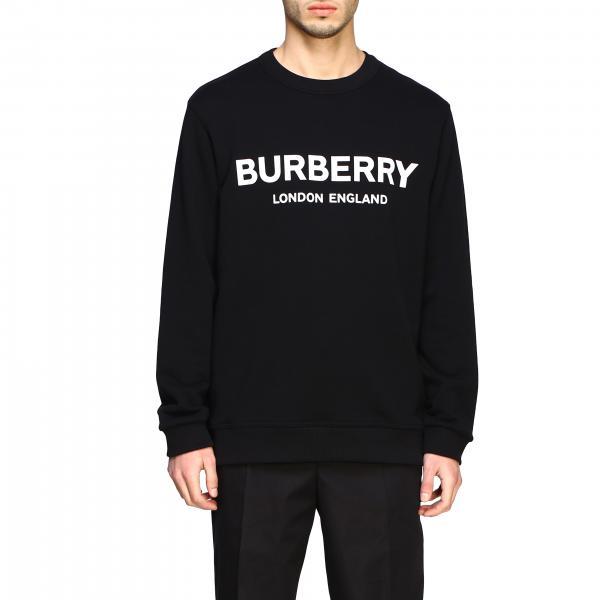 Felpa Burberry a girocollo con logo a contrasto
