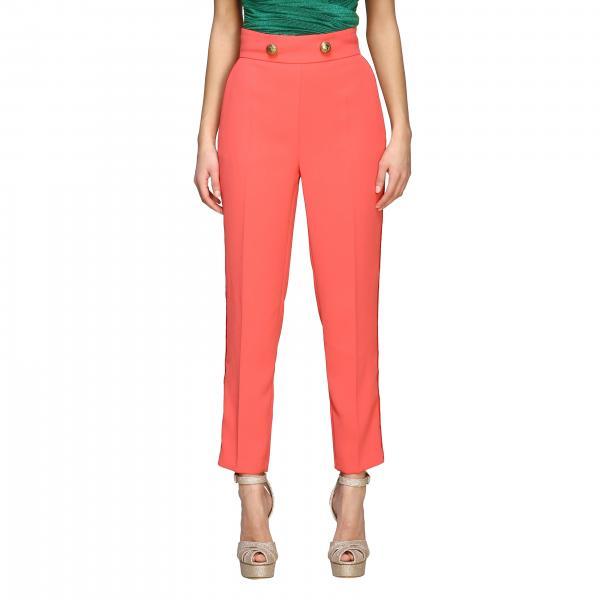 Pantalone Elisabetta Franchi con doppi bottoni metallici