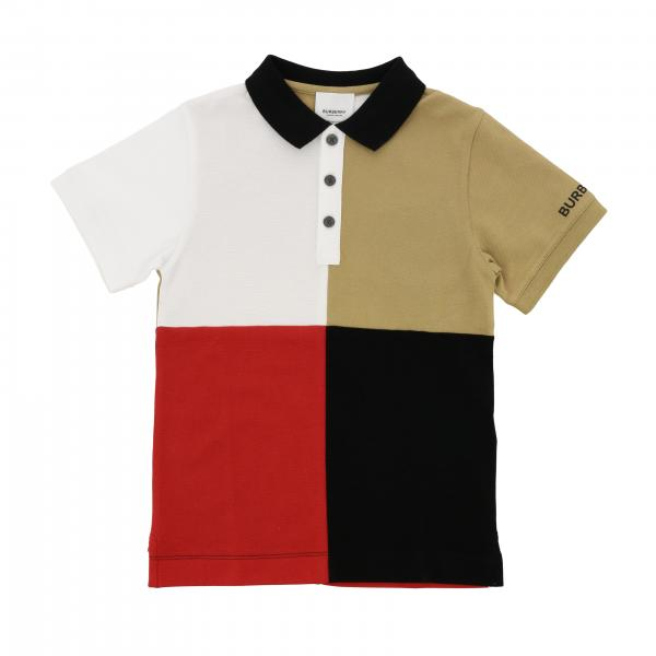 Burberry Infant short-sleeved polo shirt with macro square motif