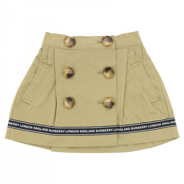 Burberry Infant skirt with double-breasted buttons and bands