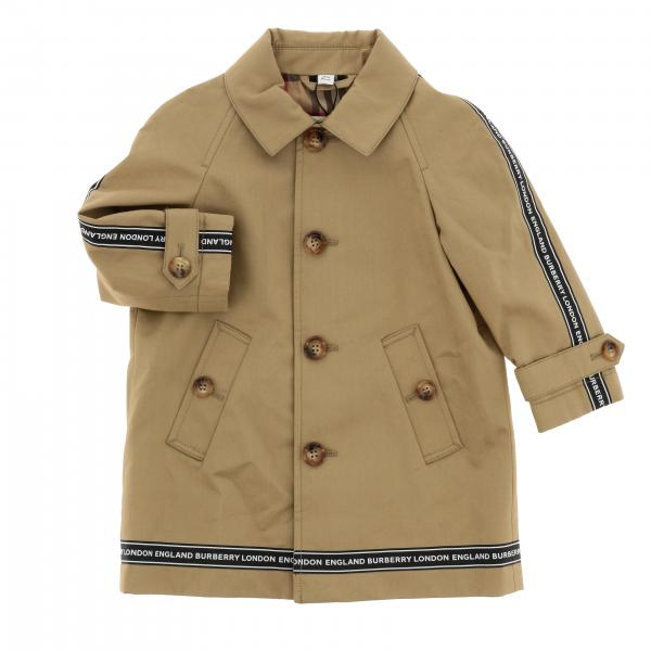 Trench Burberry Infant con bande logate