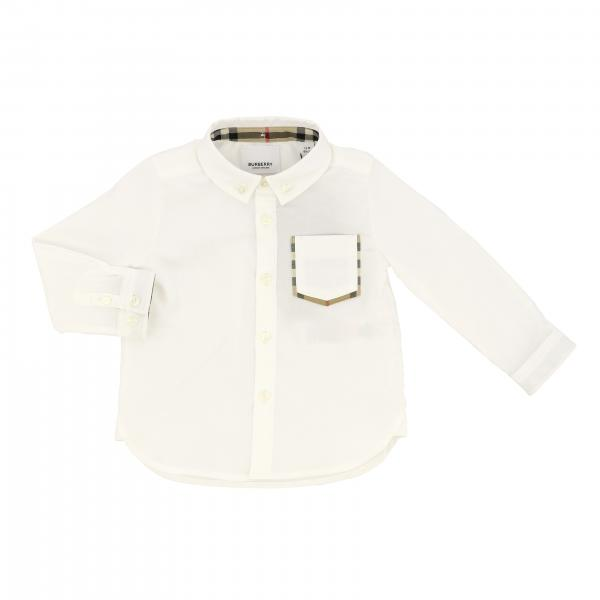 Camicia Burberry Infant con collo button down e taschino