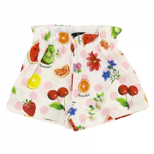 Monnalisa Baby shorts with all over prints