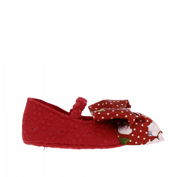 Monnalisa Bebé shoes in Sangallo with patterned bow