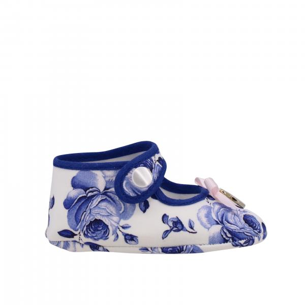 Monnalisa Bebe 'cradle shoes with floral pattern and bow