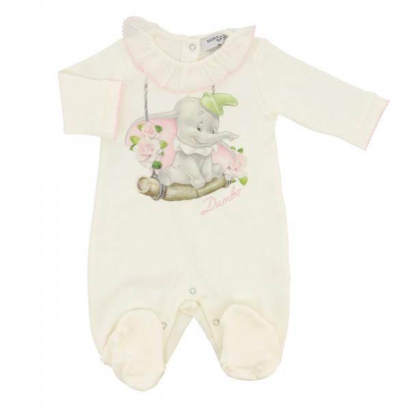 Tutina con piede Monnalisa Bebè in cotone con stampa Dumbo