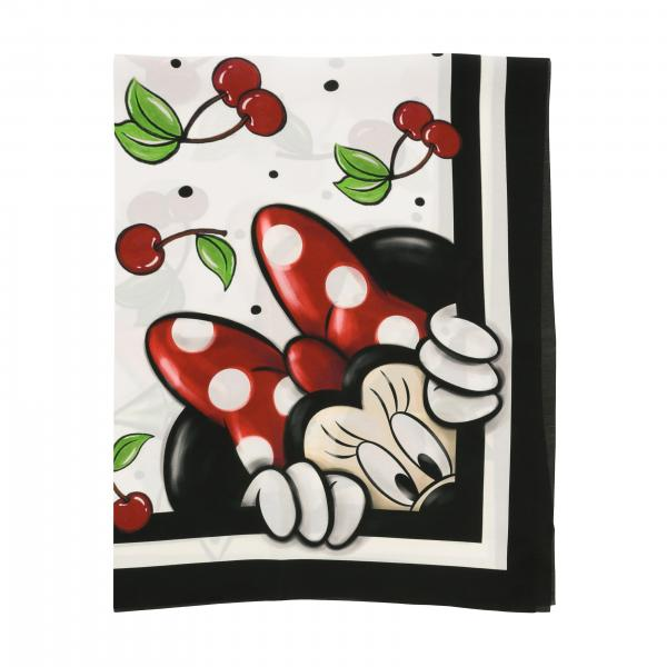 Monnalisa scarf with cherry and Mickey Mouse print