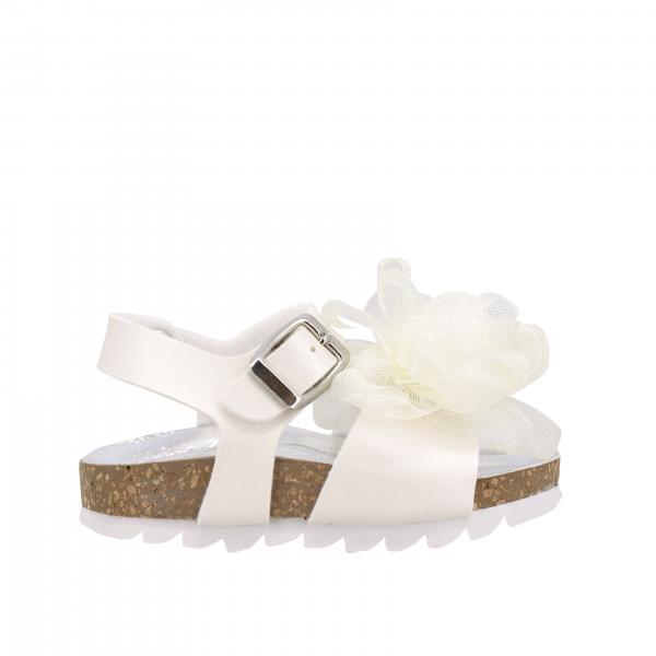 Monnalisa sandal with floral applications