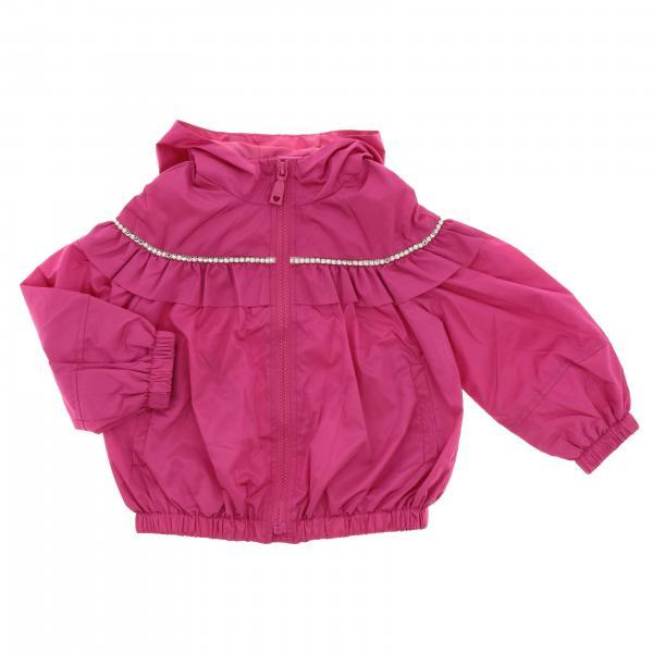 Куртка с капюшоном и стразами Детское Monnalisa
