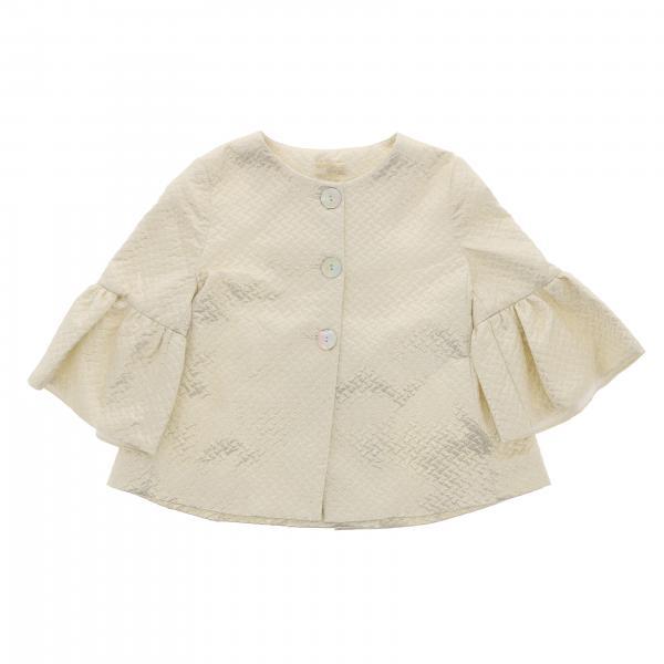 Куртка с круглым вырезом и широкими рукавами Детское Monnalisa