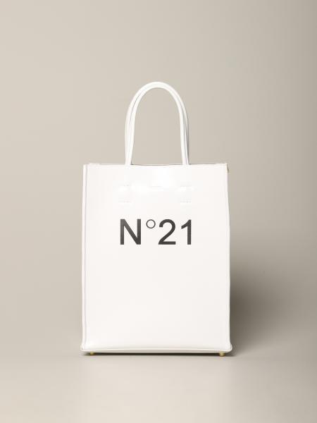 Borsa N° 21 in pelle con stampa logo