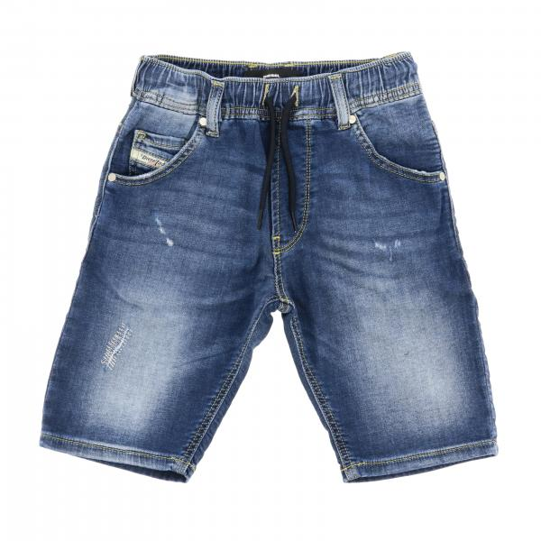 Diesel used denim shorts with logo