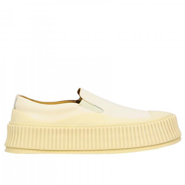 Sneakers Jil Sander slip on in pelle con big suola in gomma