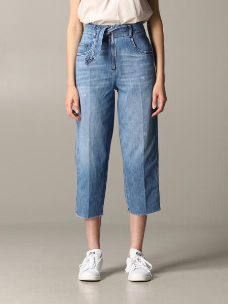 Jeans Pinko in denim ampio