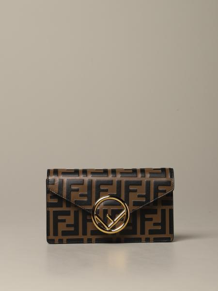 Fendi bag / pouch in leather with FF monogram
