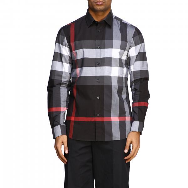 Camicia Burberry a maniche lunghe con stampa check