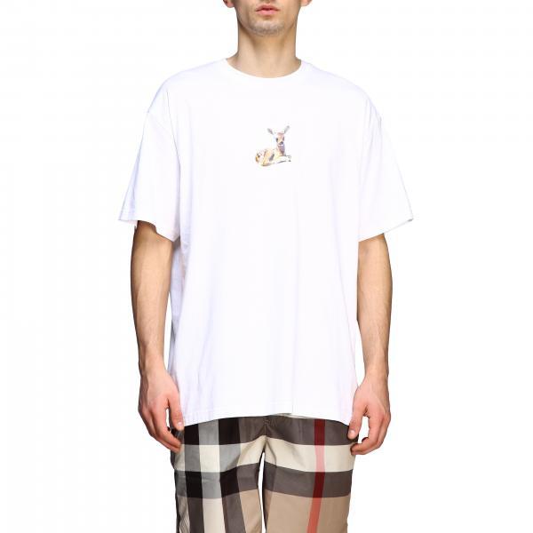 T-shirt Burberry a girocollo con stampa bambi