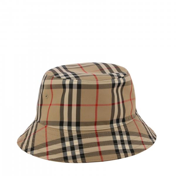Burberry cotton check hat