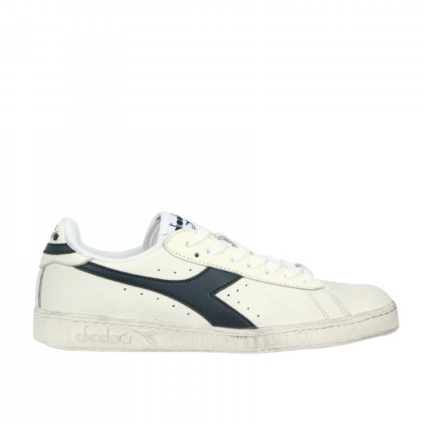 Sneakers game l low waxed Diadora in pelle con logo