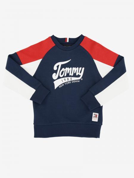 Tommy Hilfiger logo装饰圆领毛衣