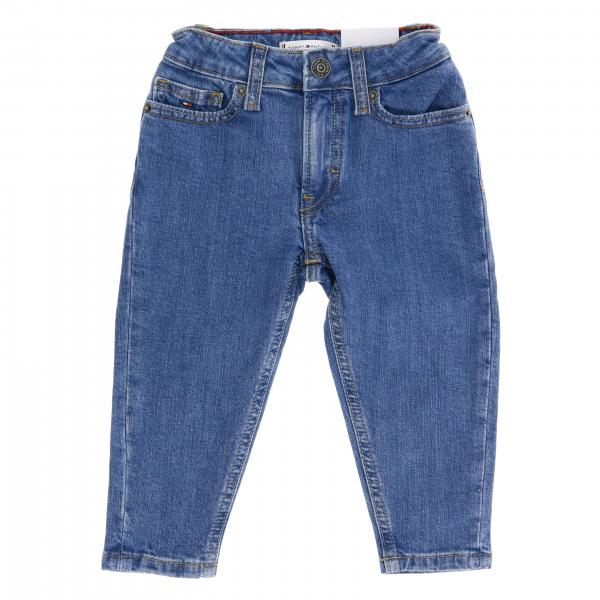 Jeans Tommy Hilfiger in denim used con taschino stampato