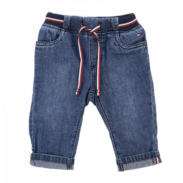 Jeans Tommy Hilfiger in denim used con coulisse