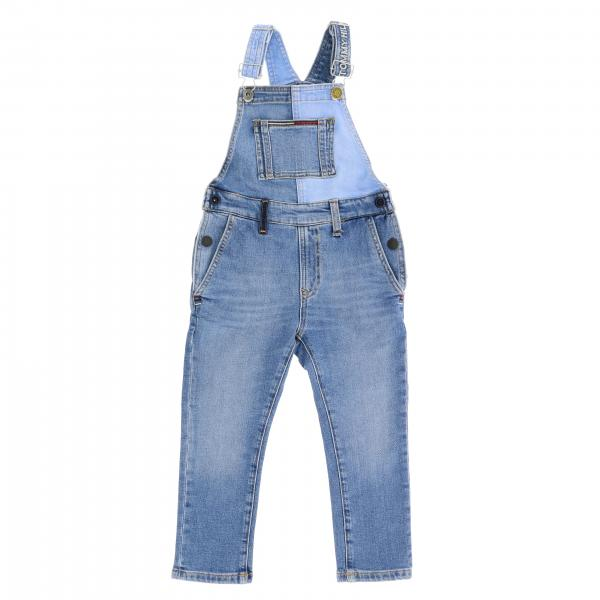 Salopette Tommy Hilfiger en denim patchwork