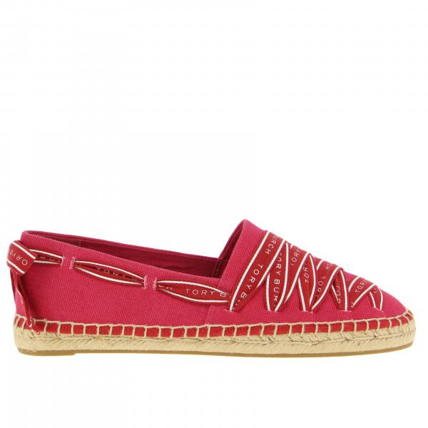 Espadrillas Tory Burch in canvas con lacci logati