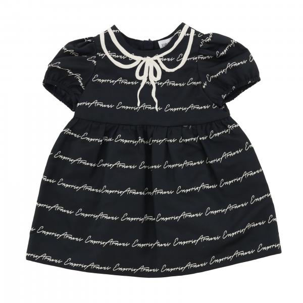 Emporio Armani dress with all over logo and bow