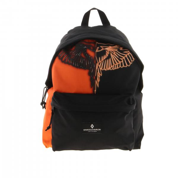 Marcelo Burlon backpack in two-tone effect nylon with feathers print