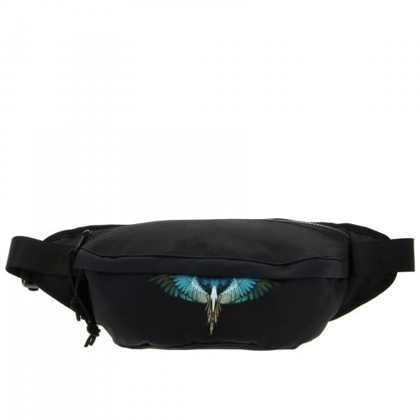Marcelo Burlon fanny pack in nylon with feather print