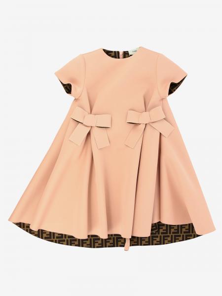Fendi FF印花短袖连衣裙