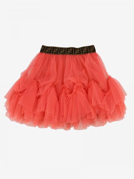 Fendi tulle skirt with all-over FF band